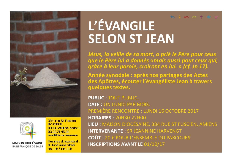 flyer evangile jean