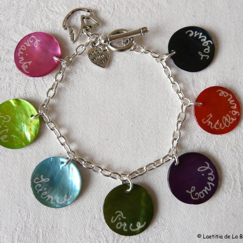 bracelet 7 dons de l'esprit-saint